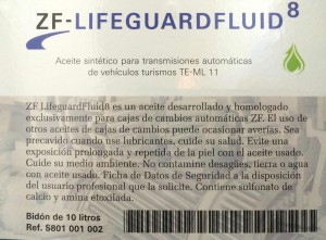 etiqueta Lifeguard Fluid 8