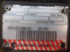 Placa Carraro 409436